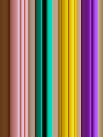 Pink, green, yellow and violet vertical variegated lines on the brown background