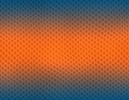 Blue and orange gradient snake skin seamless pattern, bubble scale