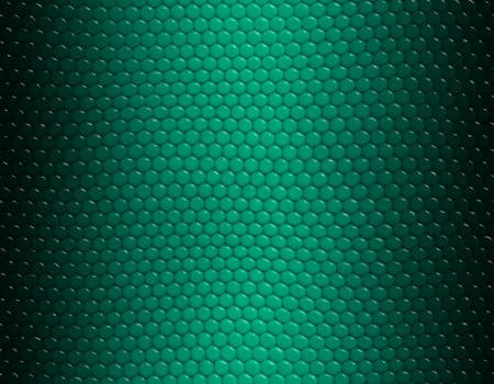 Emerald and green gradient snake skin seamless pattern, hexagonal scale