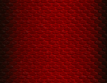 Deep red gradient snake skin seamless pattern, oval scale