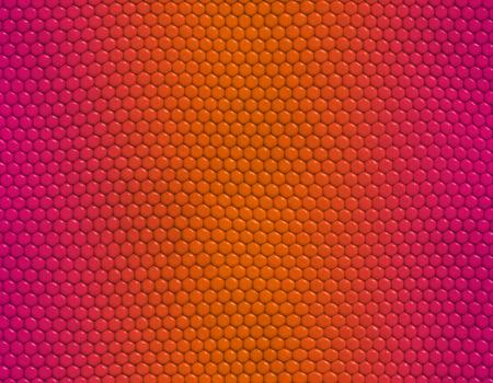 Magenta and orange gradient snake skin seamless pattern, hexagonal scale Stockfoto