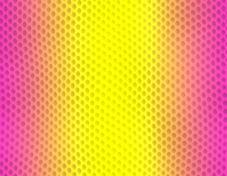 Magenta and yellow gradient snake skin seamless pattern, bubble scale