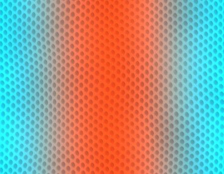 Orange and blue gradient snake skin seamless pattern, bubble scale Stockfoto