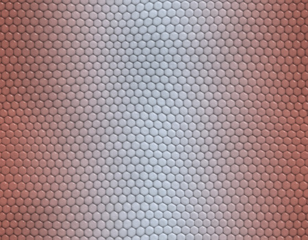 Pink and white gradient snake skin seamless pattern, hexagonal scale Stockfoto