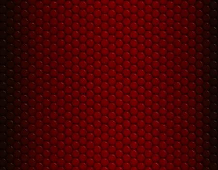 Deep red gradient snake skin seamless pattern, hexagonal scale