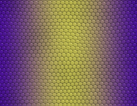 Violet and yellow gradient snake skin seamless pattern, hexagonal scale Stockfoto