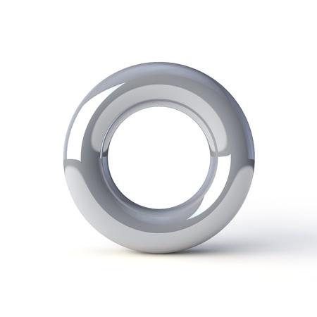torus silver on a white background Stock Photo