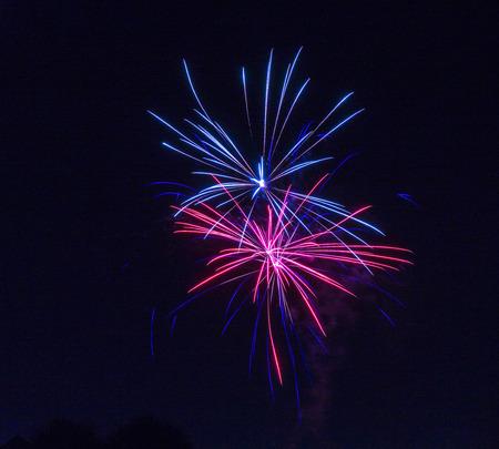 grand strand: fireworks Stock Photo