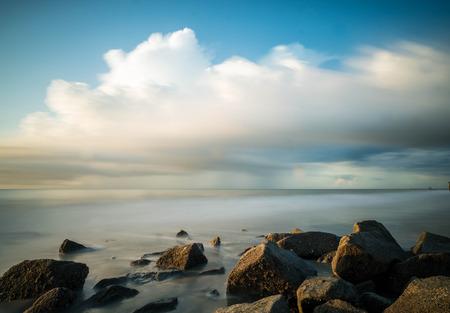 grand strand: sunrise over sea