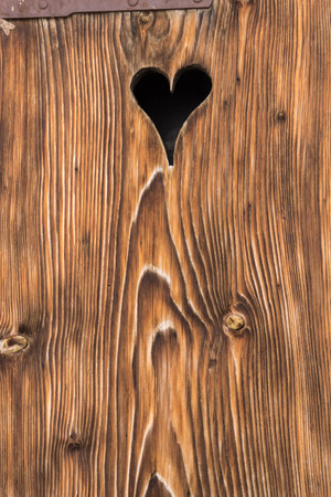old barn door with a heart