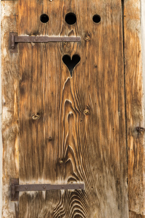 barndoor: old barn door with a heart