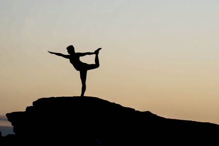 prana: morning yoga session at Horseshoe Bend