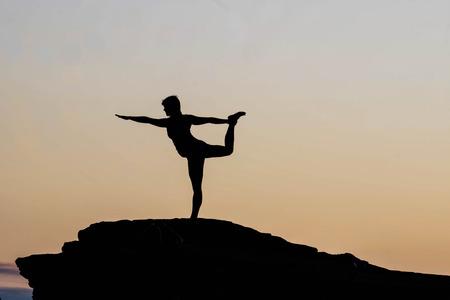 morning yoga session at Horseshoe Bend