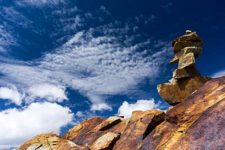 blanca: cairns in the Cordillera Blanca