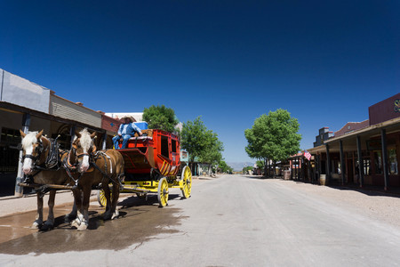shootout: stagecoach in Tombstone, Arizona