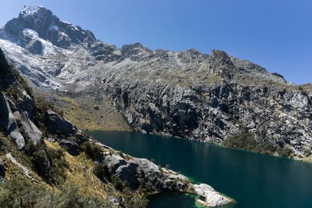 nevado: mountain lake in the Cordillera Blanca in Peru