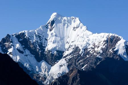 nevado: Nevado San Juan in the Cordillera Blanca in Peru Stock Photo