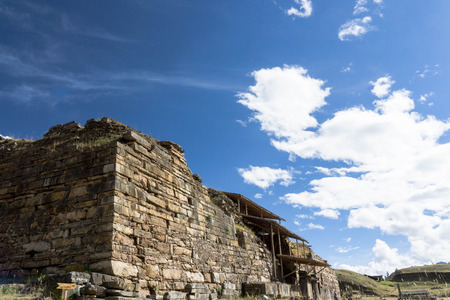 ancash: the ruins in Chavin de Huantar in Peru