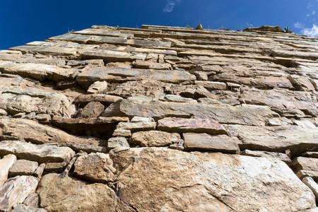 tenon: the ruins in Chavin de Huantar in Peru