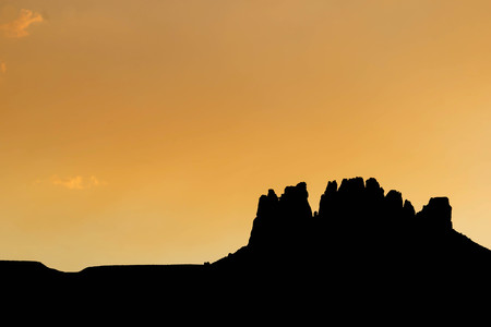 monument valley: sunset in Monument Valley