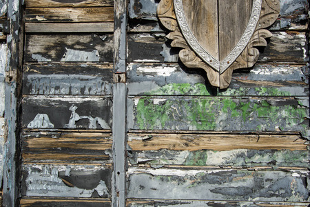 horizontal background of different colored old wood