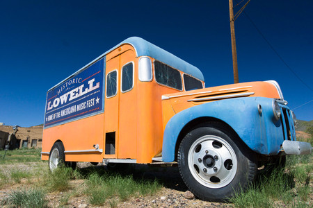 restored classic delivery truck