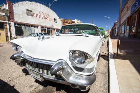 oclassic car in the ghost town of Lowell, Arizona
