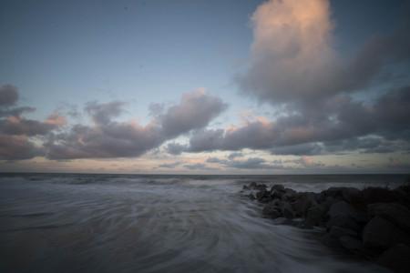 grand strand: ocean beach at twilight Stock Photo