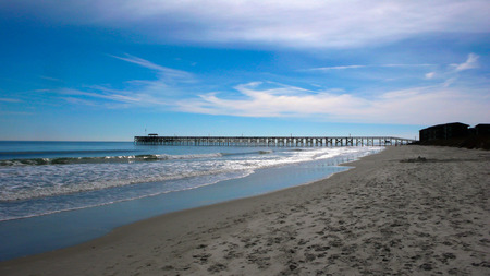 a pier and beach on the Atlantic Ocean in South Carolina