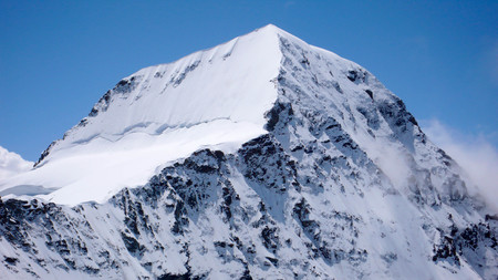 monch: the northeast face and north face of Monch in the Bernese Oberland