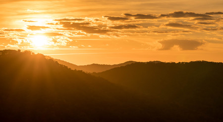 sunrise in the Appalachians of North Carolina