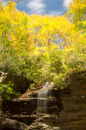 Slick Rock Falls in North Carolina Stock Photo