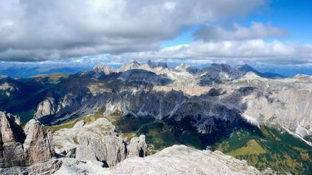 the Dolomites in Italy Stock Photo