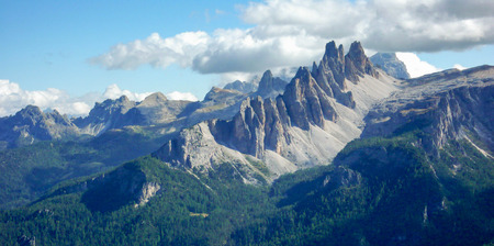 the Dolomites in Italy Stock Photo