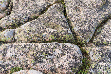 horizontal background of textured granite rock Stock Photo