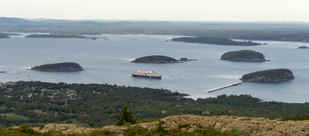 a cruise ship in Bar Harbor in Maine