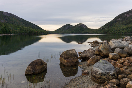 Jordan Pond and the famous Bubbles in Acadia National Park