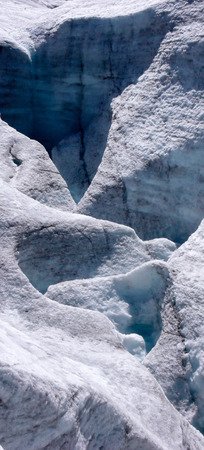 pers: glacier structures in the Swiss Alps Stock Photo