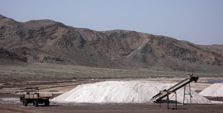 salt mine: salt mine on Sal Island in Cape Verde