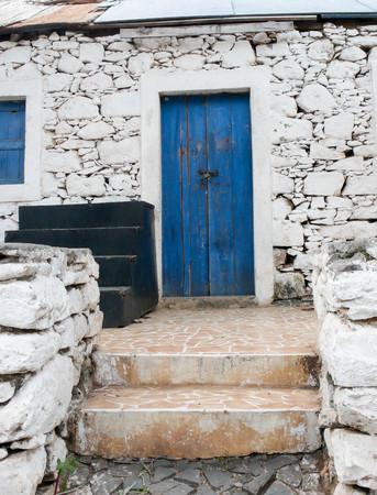 esclavo: viejo renovado cabaña de esclavos en la isla Santiago en Cabo Verde