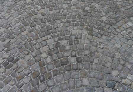 horizontal view of cobblestone street as background Фото со стока