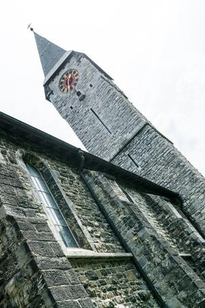 historic church in the village of Balzers in Liechtenstein Editorial