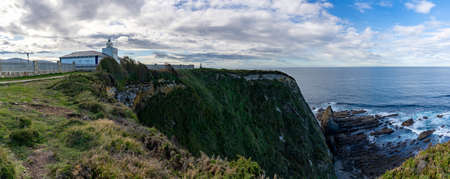 A panorama view of the Cabo de Busto lighthouse