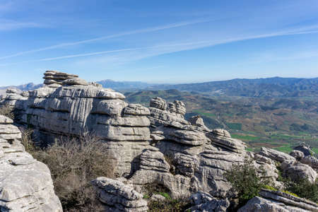 the El Torcal Nature Reserve in Andalusia with ist strange karst rock formations