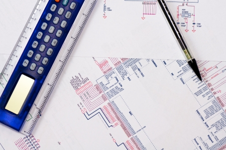 schematic: Technical Drawing Stock Photo