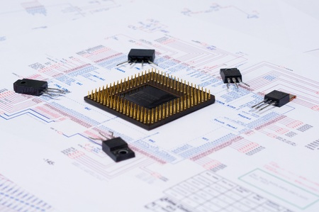 Micro Electronics Element And Layout photo