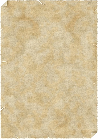 crumbling: A blank piece of crumbling paper sheet