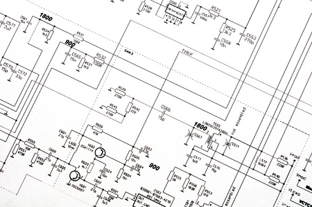 schematic: Detailed technical drawing with a lot of calculations