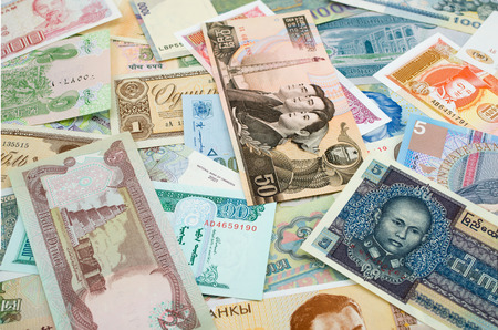 iraq money:  different currency from countries around the world
