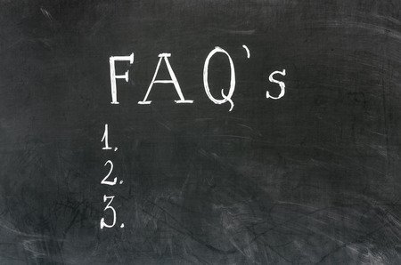 FAQ frequently asked questions written on blackboard photo